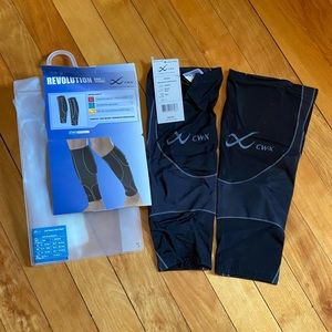 CW-X Revolution Compression Calf Sleeves Size L
